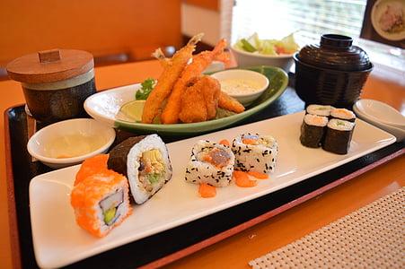 Nhật bản, thực phẩm, Bữa ăn, ẩm thực, gạo, cuộn, tươi