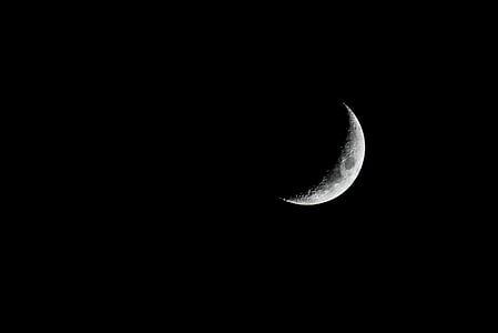 Poolkuu, tume, Moon, Moonlight, öö, astronoomia, kuu pind