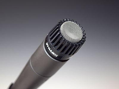 silver, Microphone, Mic, Dynamic, Audio, Recording, Recording, Studio, studio shot