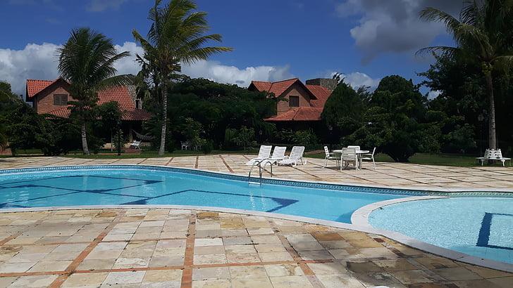 cottage, pool, leisure, swimming Pool, tourist Resort, summer, architecture