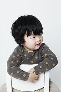 baby boy, children, man, oriental, profile, children's, love