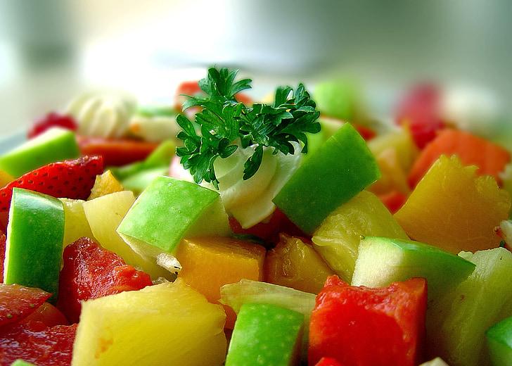 salát, zdravé jídlo, zelená