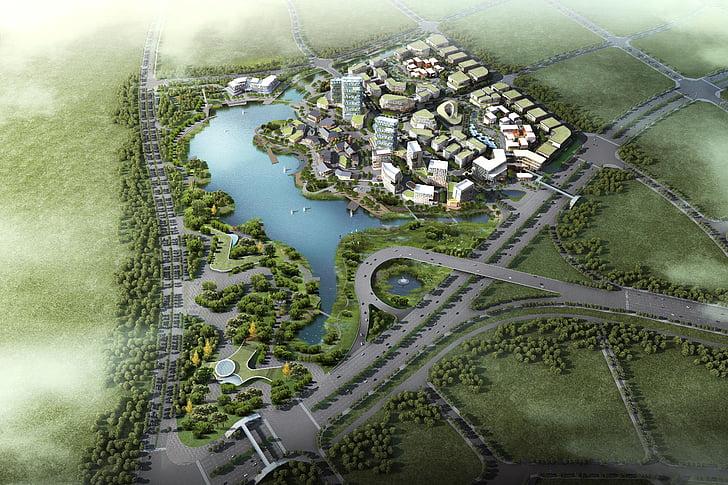 นิเวศวิทยา, ความคิดสร้างสรรค์, อุทยานวิทยาศาสตร์และเทคโนโลยี, 3 มิติ, แสดงภาพประกอบเพลง, แผนที่, เมืองจำลอง