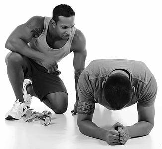 Fitness, trening, treningsstudio, trening, menn, sport, muskel bygger