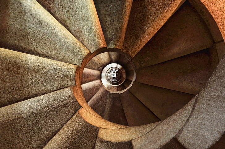 cầu thang, xoắn ốc, kiến trúc, nội thất, xây dựng, cầu thang, bước