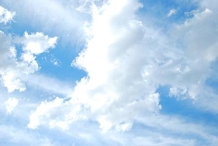 pilvi, taivas, Sky pilvet, sininen, valkoinen, Ilmastointi, Poista