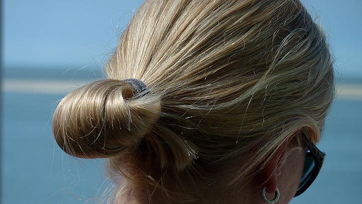 plavuša, plava kosa, žena, lice, kosa, Glavni, glava