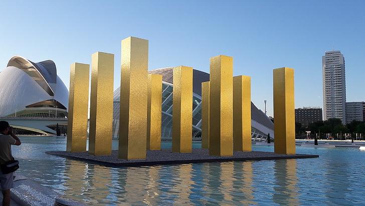 Tây Ban Nha, chuyến đi thành phố, kiến trúc, Valencia, địa điểm tham quan, thành phố khoa học, tác phẩm điêu khắc
