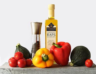 voedsel, paprika, rood, geel, niet-scherpsmakende pepers, keuken, eten