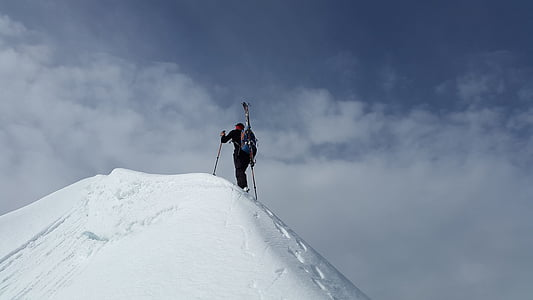 skiiing Splitboard, Cimera, muntanyisme, muntanyenc, cresta de neu, alpí, neu