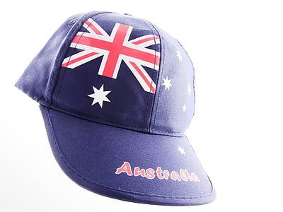 Austràlia, Bandera, gorra, capie, original, roba, gorra de plat