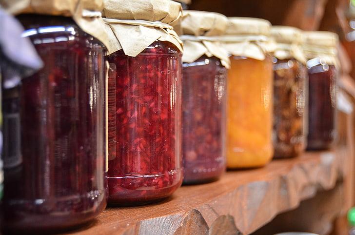 džem, prípravky, poháre, ovocie, prírodné potraviny, jesť, Eco