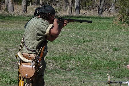puska, lövés, vadászat, katonai, cél, lő, vadász