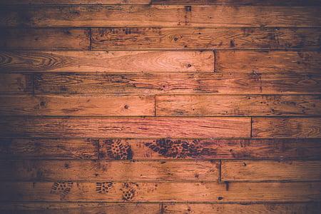 fechar, foto, marrom, de madeira, piso, madeira, madeira