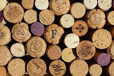 Cork, veini, veinikelder, punane, Makro, puit, muster