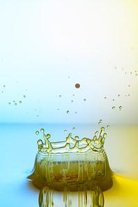 vatten, DROPP, hög hastighet, droppe vatten, vätska, Injicera, spegling