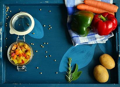 verdures, pebre vermell, cuinar, aliments, vegetal de color, Sa, vitamines