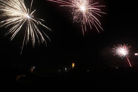 fireworks, new year, christmas, dark, night, party, firework display