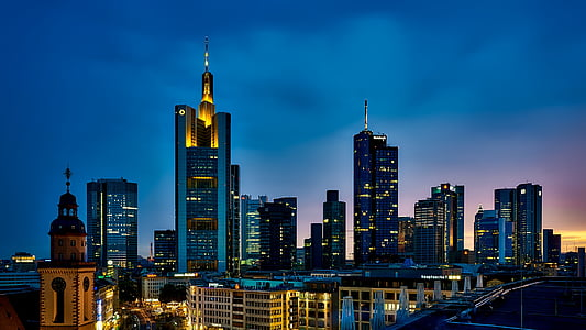 frankfurt, germany, panorama, city, urban, skyline, cityscape