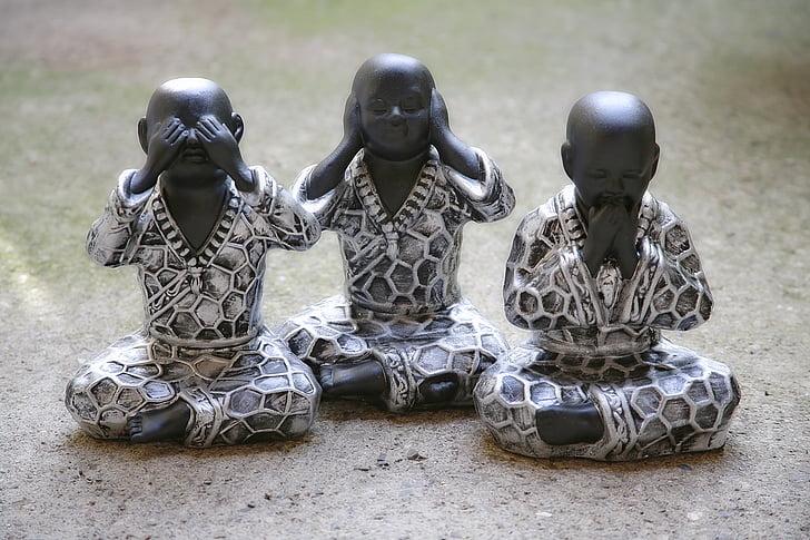 Buddha, meditasi, Zen, ketenangan, Buddhisme, bersantai, patung
