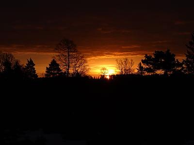 Alba, natura, morgenstimmung, estat d'ànim, Alba d'hivern, cel, paisatge