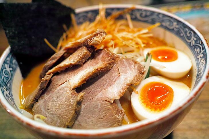menjar japonès, aliments de Japó, ramen, Restaurant, miso ramen, 叉焼, cuina