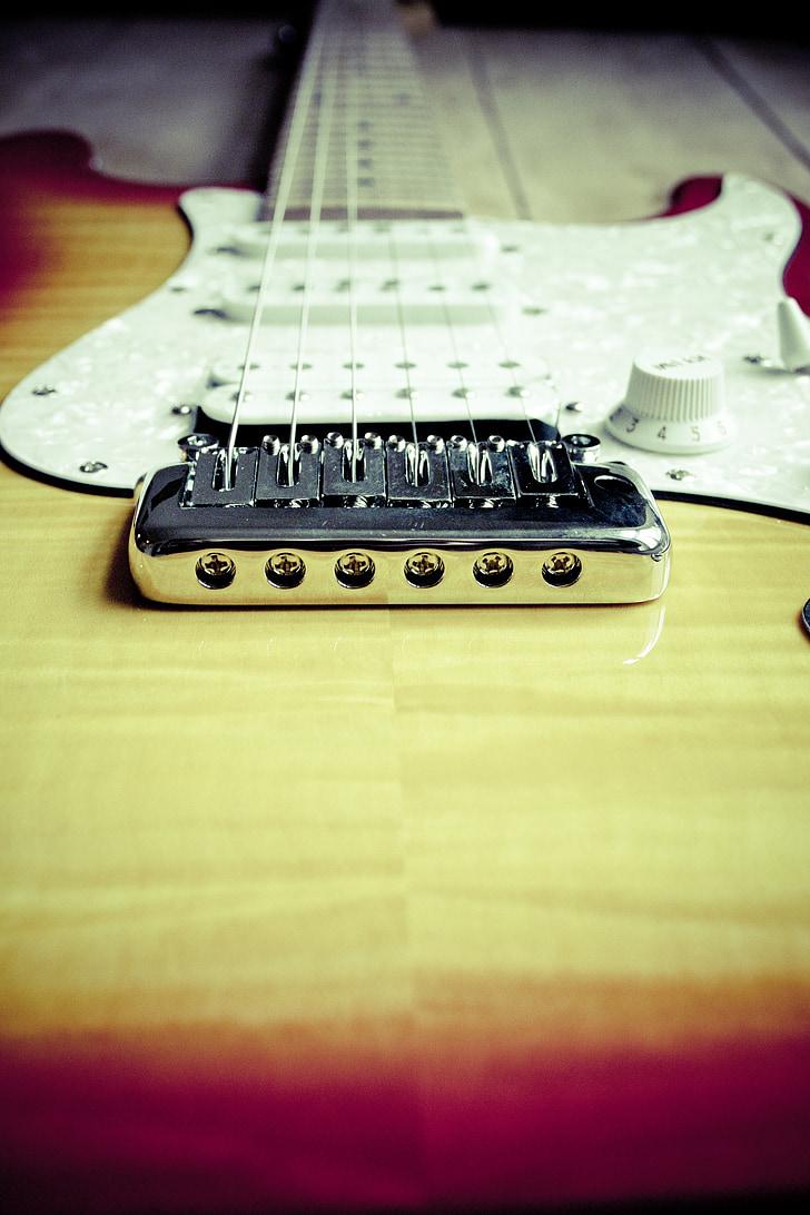 Guitarra, música, instrumento musical, Concierto, cadenas, tocar la guitarra, instrumento