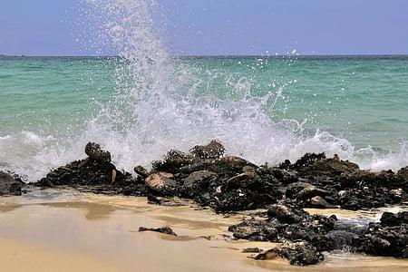val, ocean, plajă, Insula, natura, Ocean wave, apa