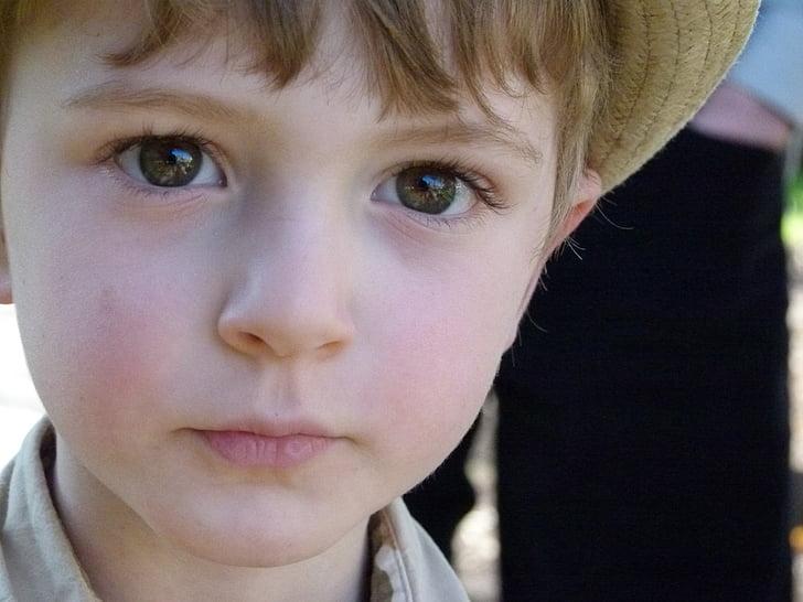 boy, child, thinking, face, portrait, little boy, cute