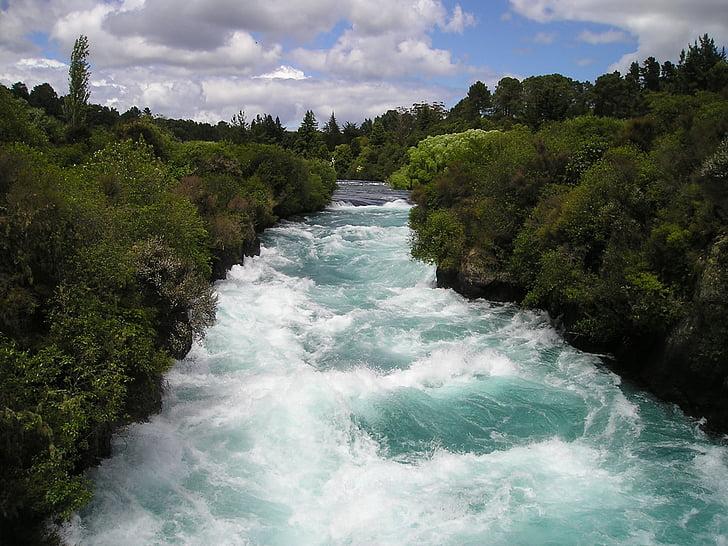 torrent, alb de apă, vigoare, natura, Noua Zeelandă, peisaj, verde