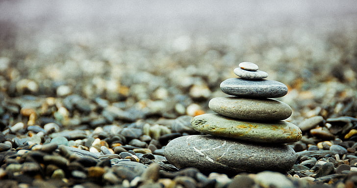 stones, pebbles, stack, pile, zen, balance, meditation