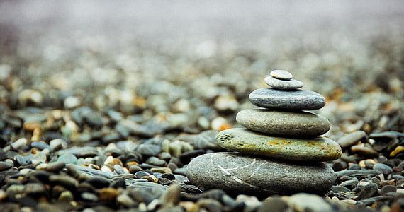 taşlar, çakıl taşları, yığın, yığın, Zen, denge, meditasyon