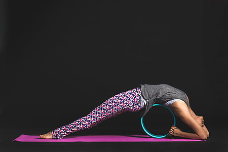 people, woman, pink, yoga, mat, fitness, healthy