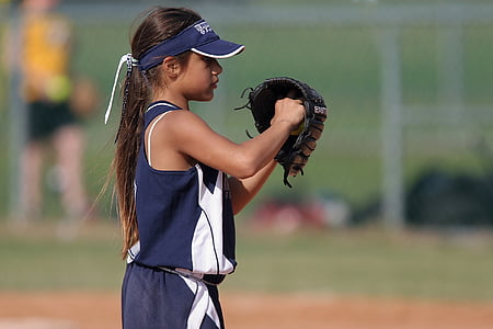 softball, pitcher, female, sport, game, competition, player
