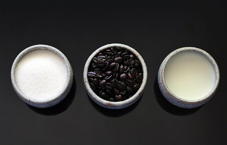 cafè, fesols, cafè amb llet, ingredients, botiga de cafè, begudes, esmorzar