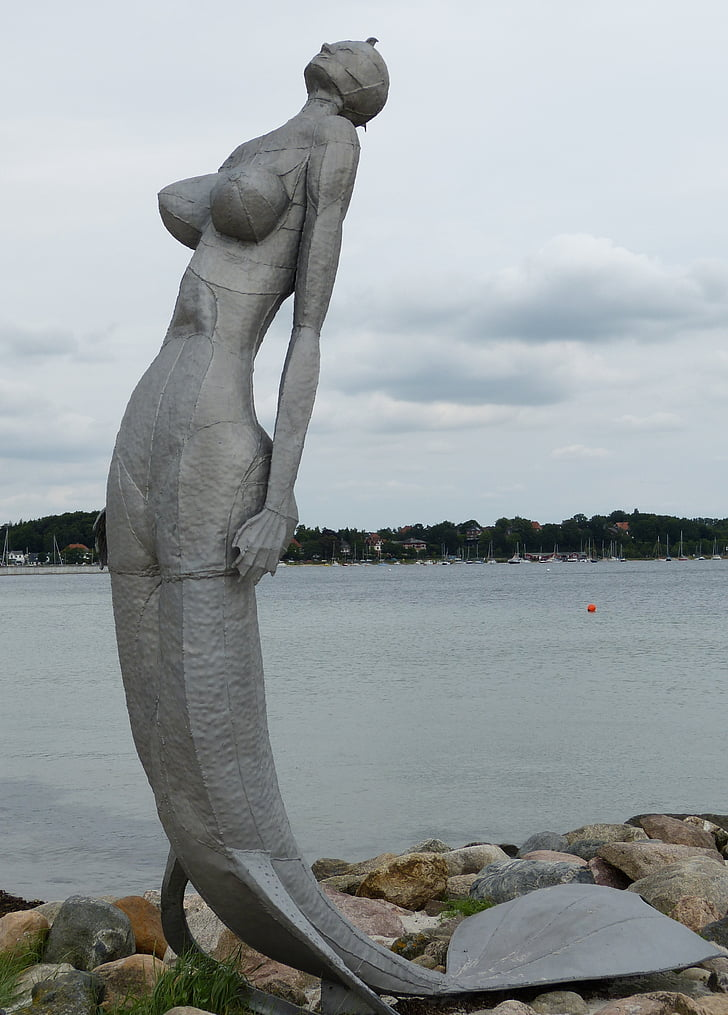 Эккернфёрде, Мекленбург, мне?, Балтийское море, Рисунок, скульптура, Русалка