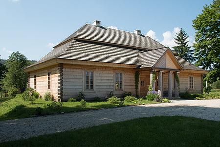 vecā māja, māja, koka mājā, koka māja, vecā māja, Polija, zeromski