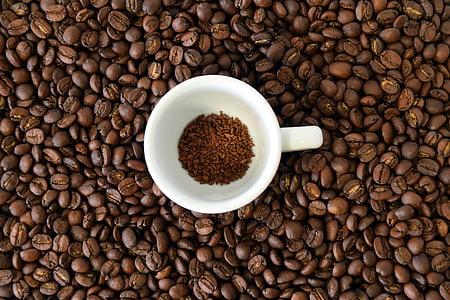 cafè, grans de cafè, aroma de, cafeteria, fesols, Copa, tassa de cafè