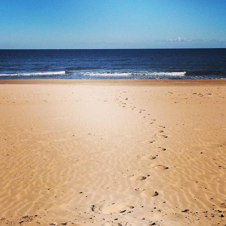 Beach, pesek, sonce, sredozemski, poletje, morje, narave