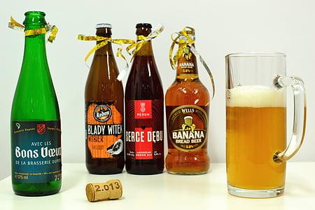 pivo, botttle, Proslava, čaša piva, alkohol, napitak, piće