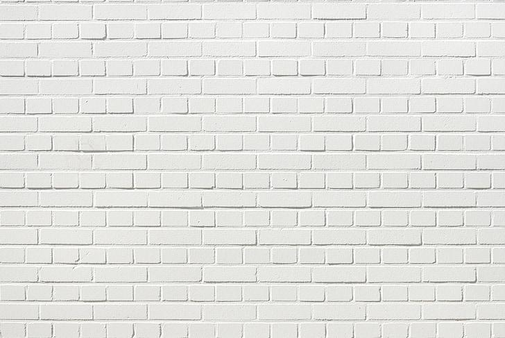 tellised, seina, valge telliskivisein, valge, valge sein, taustaks, hoone
