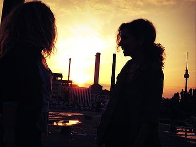 Flicka, kvinna, person, Berlin, skugga, Tyskland, Europa