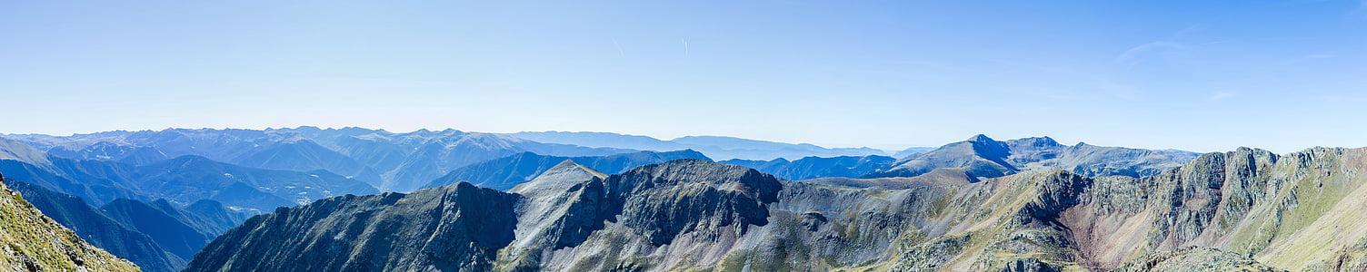 paisatge, muntanya, Serra, natura, panoràmica