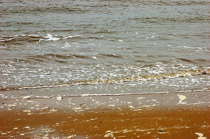 Északi-tenger, tenger, Beach, víz, spray, tó