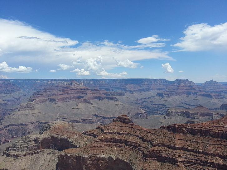 canó, congost, Arizona, geològic, gran, Parc, natura