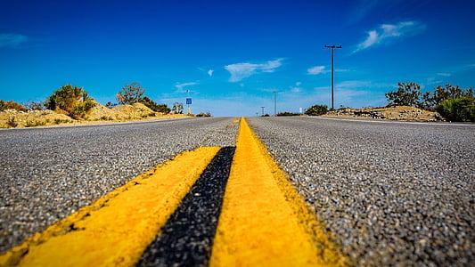EUA, carretera, Amèrica, recta, asfalt, l'autopista, Califòrnia