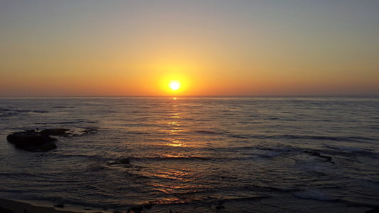 la jolla sunset, sunset, ocean, california, pacific, sun, sea