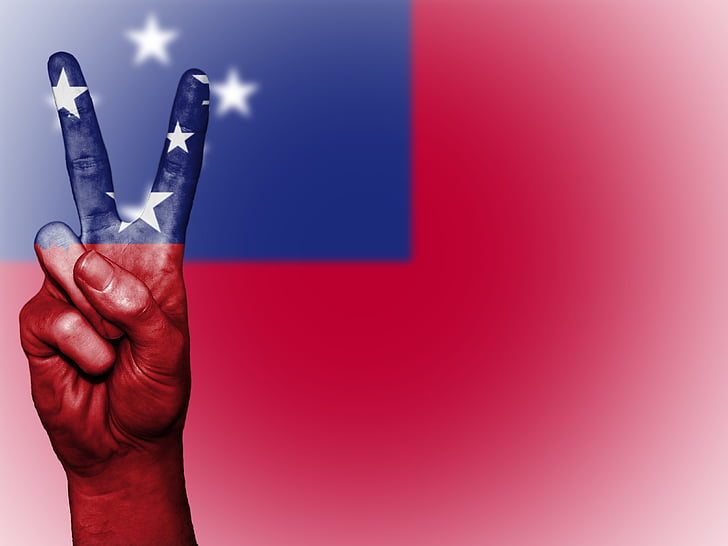 samoa, peace, hand, nation, background, banner, colors