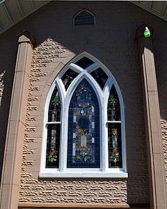 l'església, vidrieres, finestra, Vitrall, vidre, religió, cristiana