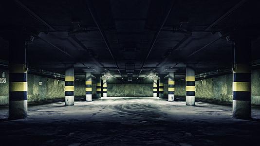 garage, parking, parking lot, underground, the wine cellar, dungeon